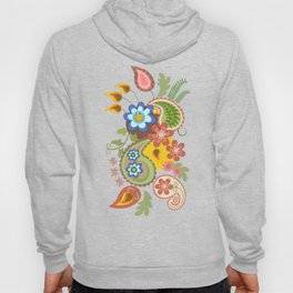Damask and Paisley leaves and flowers Hoody