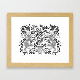 Jaguar Dance Framed Art Print