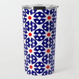 Stars 42- dark blue and red Travel Mug