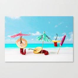 The Red, the Hot, the Chili on the beach Canvas Print