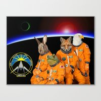 starfox Canvas Prints featuring STARFOX - The Lylat Space Program by John Medbury (LAZY J Studios)