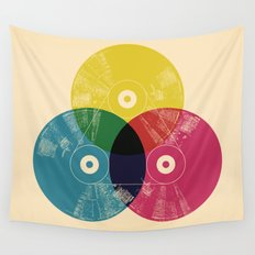Music is the colors of life Wall Tapestry