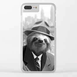Sloth in New York Clear iPhone Case