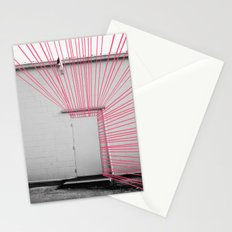 White Door, Red-Pink Prism Stationery Cards