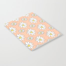Fresh As A Daisy (Coral) Notebook