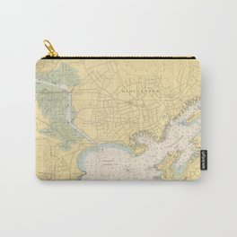 Vintage Map of Gloucester MA (1949) Carry-All Pouch