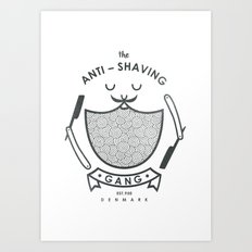 Anti-shaving gang Art Print