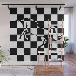 Chessboard Unicorn Wall Mural