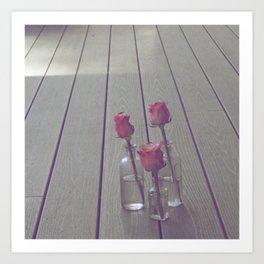 Simple Pink Roses Art Print