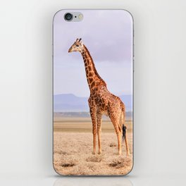 Giraffe on the Serengeti's plains, Tanzania iPhone Skin