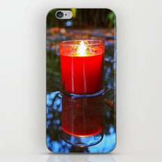 Candle reflected iPhone Skin