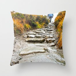 Stairway To The Fairy Pools-Isle of Skye Throw Pillow