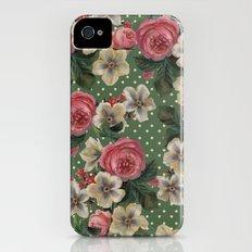 Vintage Rose Pattern iPhone (4, 4s) Slim Case