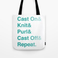 Knitting - Helvetica Ampersand Style Tote Bag
