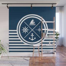 Sailing symbols Wall Mural