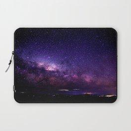 Purple Blue Milky Way Landscape Laptop Sleeve