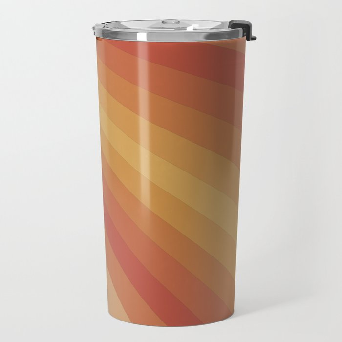 Retro 70s Sunrays Travel Mug