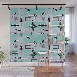 Art Deco Swimmers Wall Mural