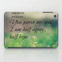 jane austen iPad Cases featuring Agony and Hope Jane Austen by KimberosePhotography