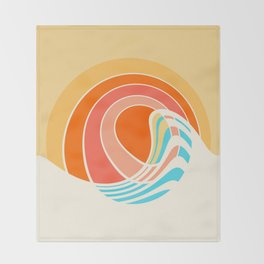 Sun Surf Throw Blanket