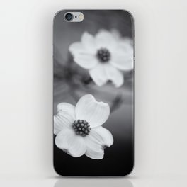 Dogwoods in Black and White iPhone Skin