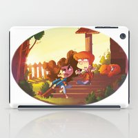 hermione iPad Cases featuring Ron & Hermione - Mouse & Cat by Annalisa Leoni