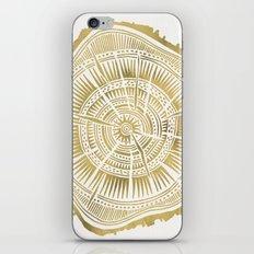 Paper Birch – Gold Tree Rings iPhone & iPod Skin