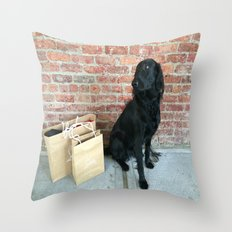 Puppy LOUBe Throw Pillow