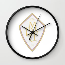 Madrid Blanco Badge Wall Clock