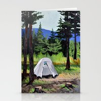camp Stationery Cards featuring Camp by Kira Yustak
