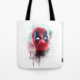 dead pool abstract watercolor portrait painting | Original Fan Art Tote Bag