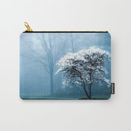 Early Morning Foggy Tree Carry-All Pouch