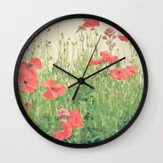 Sea of Red Wall Clock