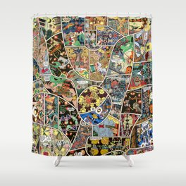 Root Trench Page Shower Curtain
