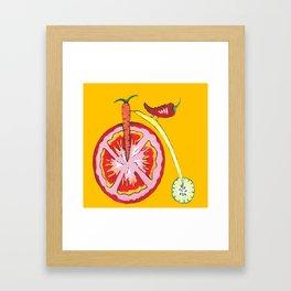 Kitchen Vegetable Art Framed Art Print