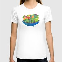succulents T-shirts featuring Succulents by Cat Coquillette