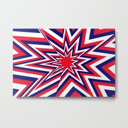 Fourth of July Burst Metal Print