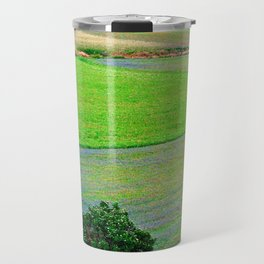 A tree between flowers of lentil Travel Mug