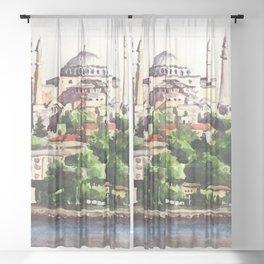 Istanbul Turkey Hagia Sophia Sheer Curtain