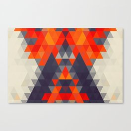 Abstract Triangle Mountain Canvas Print