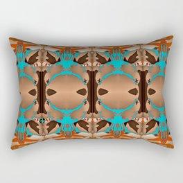 Brown Blue Azalea 1 Rectangular Pillow
