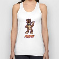 fnaf Tank Tops featuring Freddy Plush by Silvering