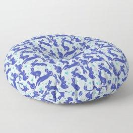 Bunny love - Blueberry edition Floor Pillow