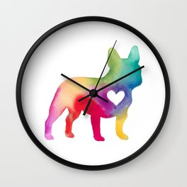 French Bulldog Love Wall Clock