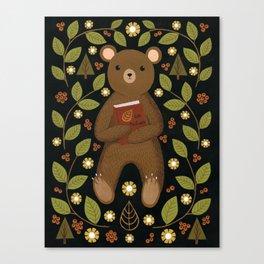 story bear Canvas Print