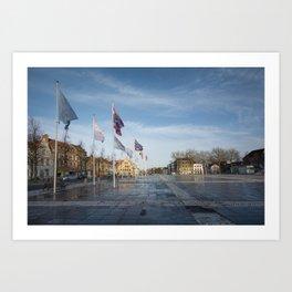 Het Zand, Bruges Art Print