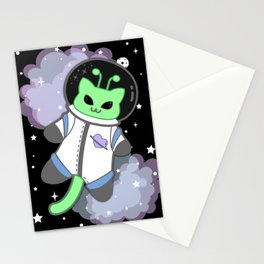 Martian Kitty Astronaut Stationery Cards
