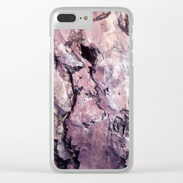 Rock Texture Clear iPhone Case