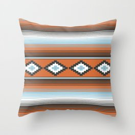 Modern Mexican Serape in Technicolor Throw Pillow