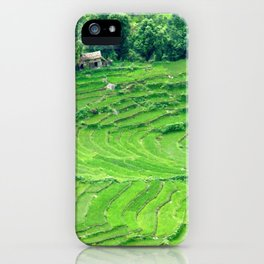 Mountainside rice paddies - Greg Katz iPhone Case
